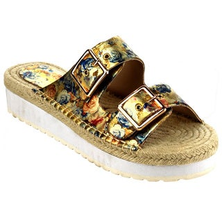 Women's EB14 Beston Faux-leather Platform Espadrille Sandal