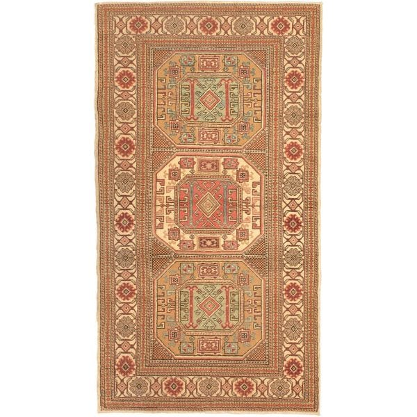 eCarpetGallery Beige Wool Antique Anatolian Hand-knotted Rug (3'2 x 5'10)