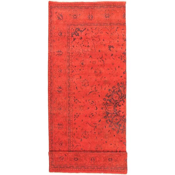 eCarpetGallery Hand-knotted Color Transition Red Wool Rug (4'8 x 13'4)