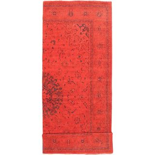 eCarpetGallery Hand-knotted Color Transition Red Wool Rug (4'8 x 13'5)