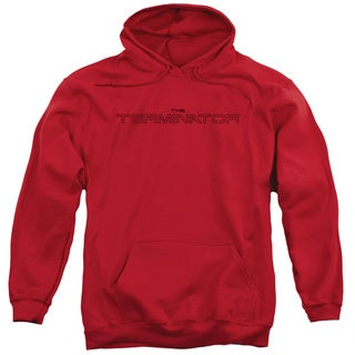 Terminator/Logo Outline Adult Pull-Over Hoodie in Red