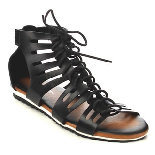 Beston EB25 Women's Lace-up Gladiator Sandals