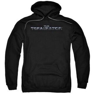 Terminator/Logo Adult Pull-Over Hoodie in Black