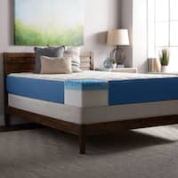 Select Luxury 12-inch Quilted AirFlow Gel Memory Foam Airflow Mattress and Foundation Set
