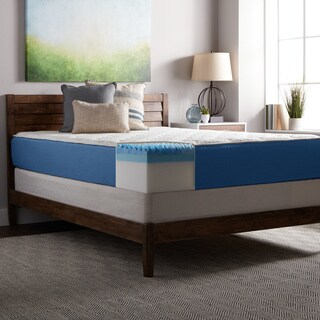 Select Luxury 12-inch Queen Size Quilted Gel Memory Foam Airflow Mattress and Foundation Set