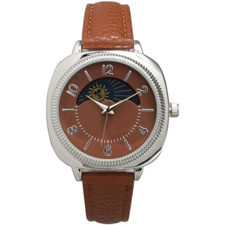 Olivia Pratt Heavenly Bodies Brown Leather Watch