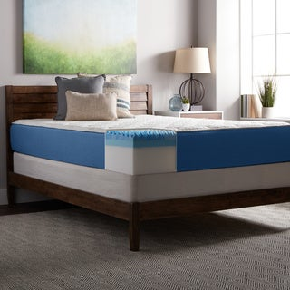 Select Luxury 12-inch Full Size Quilted AirFlow Gel Memory Foam Airflow Mattress and Foundation Set
