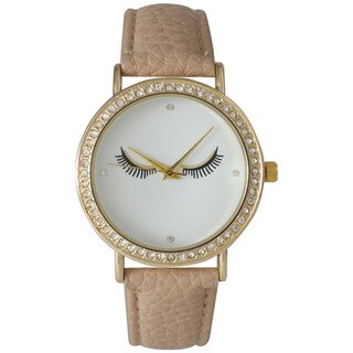 Olivia Pratt Women's Beige Leather Quartz Watch