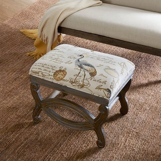 Madison Park Avril Multi Exposed Wood Ottoman