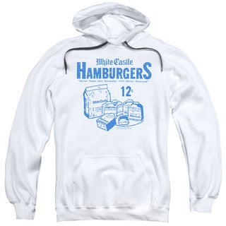 White Castle/12 Cents Adult Pull-Over Hoodie in White