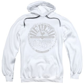 Sun Records/Crusty Logo Adult Pull-Over Hoodie in White