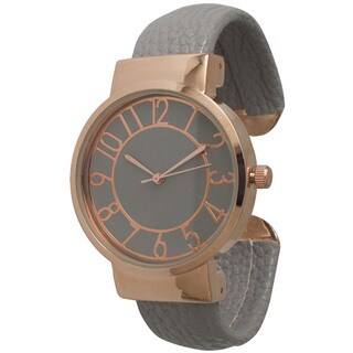 Olivia Pratt Women's Leather Bangle Watch