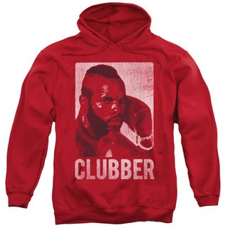 Rocky/Clubber Lang Adult Pull-Over Hoodie in Red