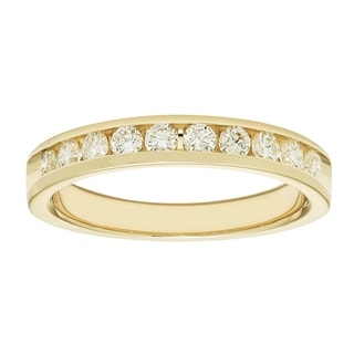 Boston Bay Diamonds 14k Yellow Gold 1/2ct TDW Diamond Anniversary Band (I, I1)