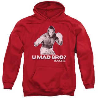 MGM/Rocky/U Mad Bro Adult Pull-Over Hoodie in Red