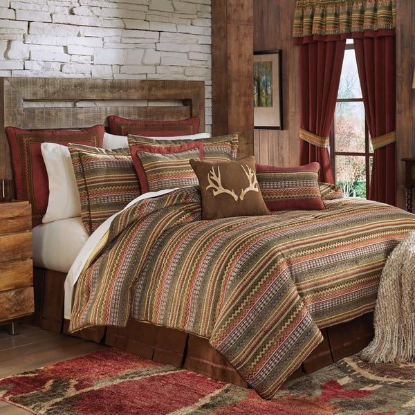 Croscill Horizons Chenille  Jacquard Woven Southwest Stripe 4-piece Comforter Set