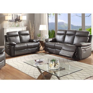 Ryker Leather Reclining Sofa and Loveseat 2-piece Set