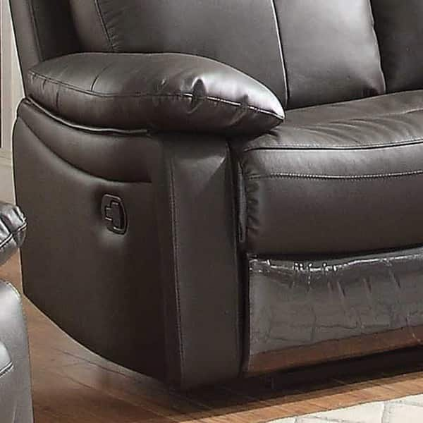 Pleasant Shop Ryker Leather Reclining Sofa And Loveseat 2 Piece Set Caraccident5 Cool Chair Designs And Ideas Caraccident5Info