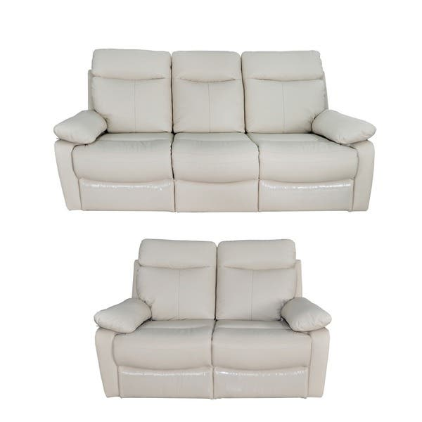 Outstanding Shop Ryker Leather Reclining Sofa And Loveseat 2 Piece Set Caraccident5 Cool Chair Designs And Ideas Caraccident5Info