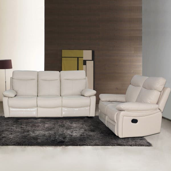 Cool Shop Ryker Leather Reclining Sofa And Loveseat 2 Piece Set Caraccident5 Cool Chair Designs And Ideas Caraccident5Info