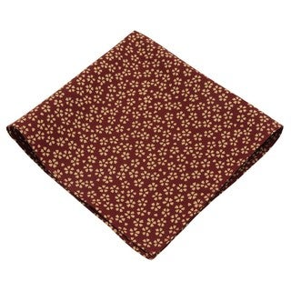 Timid Solid-colored Floral Pocket Square