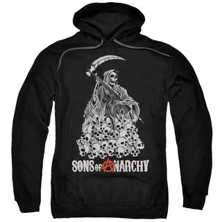 Sons Of Anarchy/Pile Of Skulls Adult Pull-Over Hoodie in Black