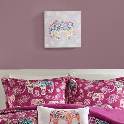Mi Zone Elly the Elephant Multi Gel Coated Canvas