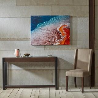 Madison Park Colorful Seaside Multi Glass Coated Canvas