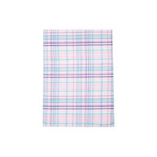 SD1879H-A Pink and Blue Plaid Cotton Pocket Square