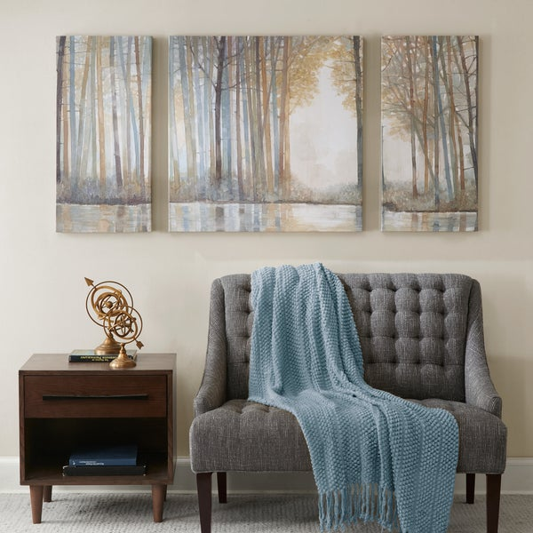 Shop Madison Park Forest Reflections Multi Gel Coated Canvas (Set of ...