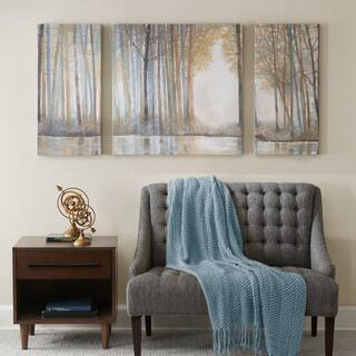 Madison Park Forest Reflections Multi Gel Coated Canvas (Set of 3)