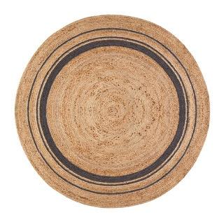 Jani Tara Grey Rings Jute Rug (6' Round)