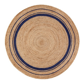 Link to Jani Tara Blue Rings Jute Rug Similar Items in Transitional Rugs