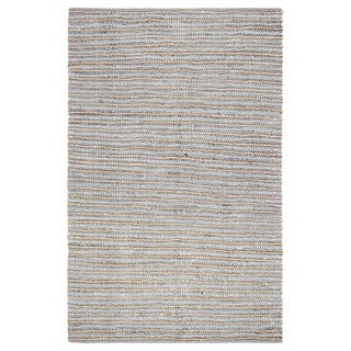 Jani Ella Leather Cotton and Jute Rug (5' x 7')