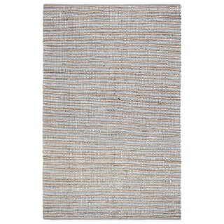 Jani Ella Leather Cotton and Jute Rug (8' x 10')