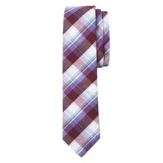 Men's Picnic Plaid Soft Cotton Neck Tie
