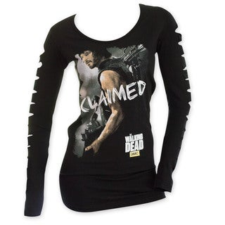 Women's 'The Walking Dead' Slashed Long-sleeved 'Claimed' Shirt