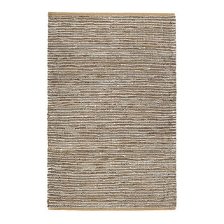 Jani Nia Leather Cotton and Jute Rug (4' x 6')