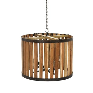 Hip Vintage Wooden Rotunda Chandelier