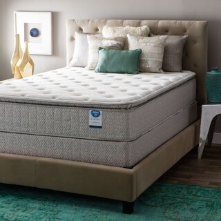 Spring Air Value Collection Tamarisk Full-size Pillow Top Mattress Set - Brown/Beige