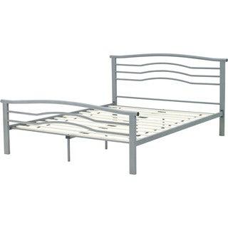 Hanover Midtown Metal Nickel Finish Twin Platform Bed