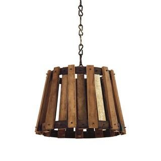 Hip Vintage Wood Crate Pendant Light Fixture
