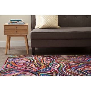 Jani Tia Multi Color Cotton Rug (4' x 6')