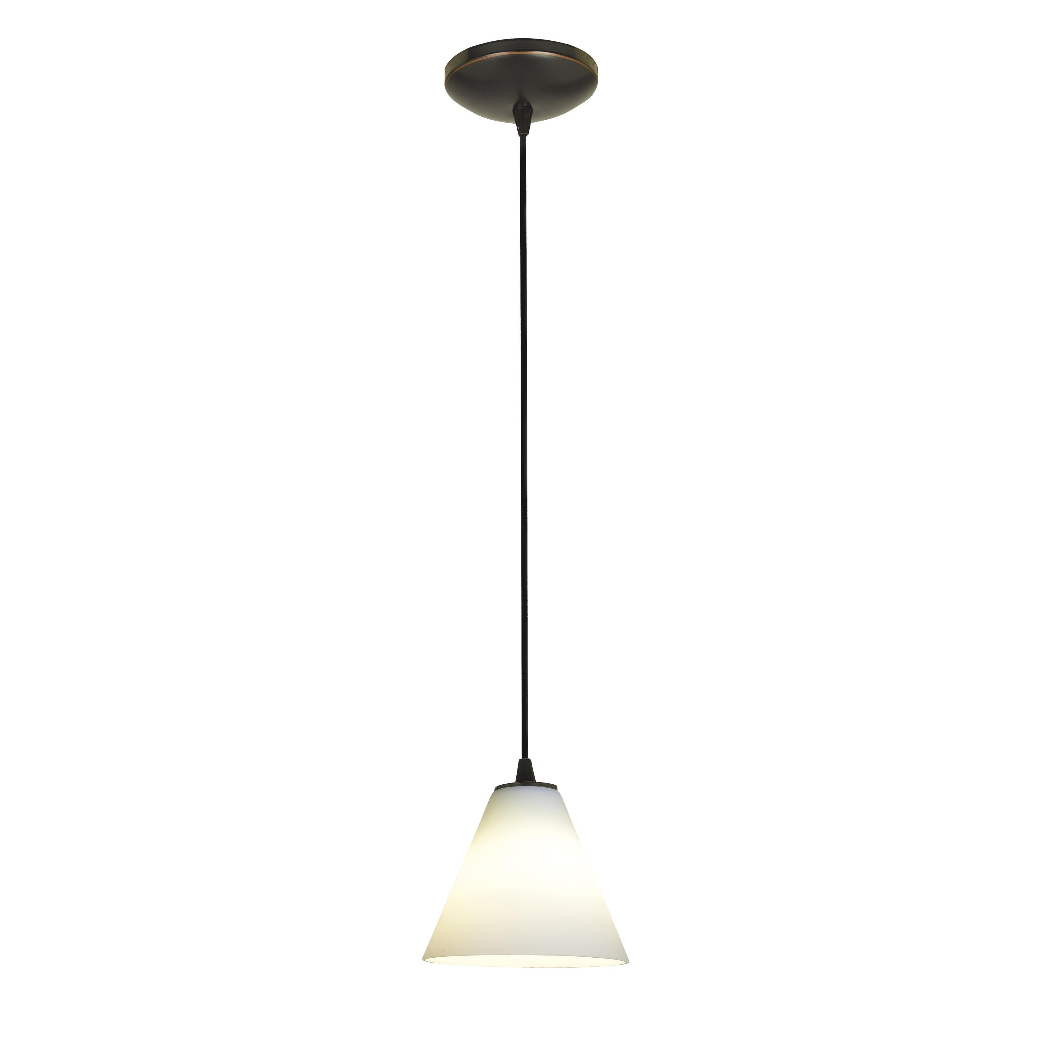 Access Lighting Martini Bronze LED Cord Pendant, White Sh...