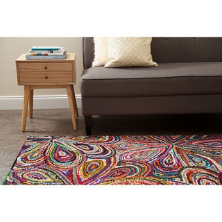 Jani Peta Multi Color Cotton Rug (8' x 10')