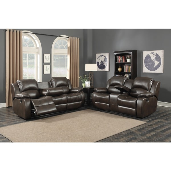 Samara 2 piece brown sofa and loveseat living room set for 2 piece living room furniture set