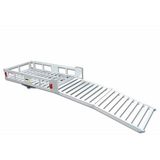 MaxxHaul Aluminum 52 1/2-inch x 29-inch Cargo Carrier With 60-inch Folding Ramp