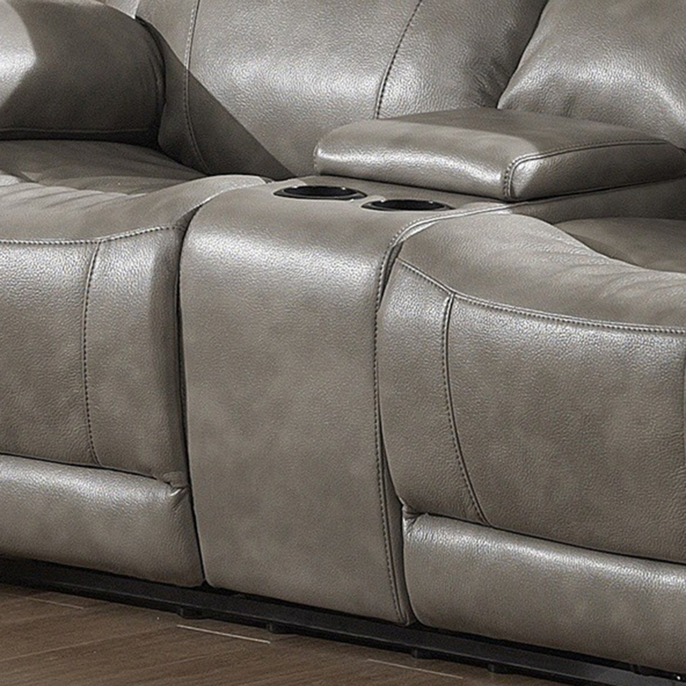 Amazing Estella Contemporary Sofa And Loveseat With Storage Console 2 Piece Set Ncnpc Chair Design For Home Ncnpcorg