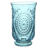 Charlotte Hurricane Vase Blue 6-inches x 9.5-inches