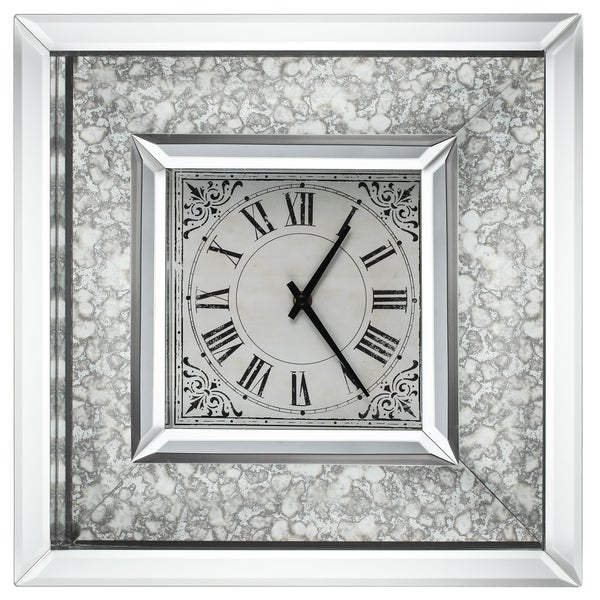 Shop Astrid 16-inch x 16-inch Mirrored-frame Wall Clock - Free ...
